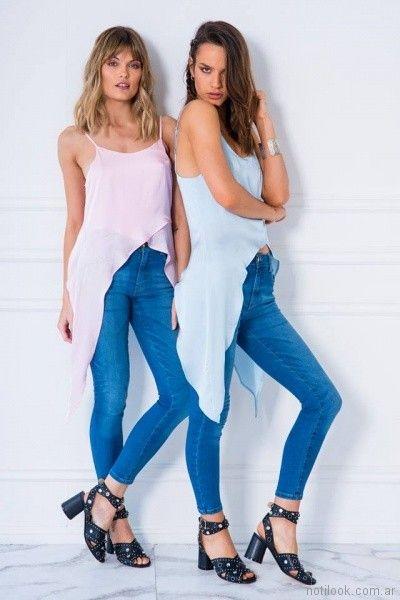 top con picos irregulares Doll store primavera verano 2018
