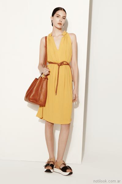 vestido amarillo corto para el dia Clara ibarguren primavera verano 2018