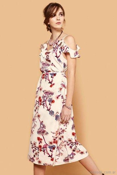 vestido floreado primavera verano 2018 - India Style