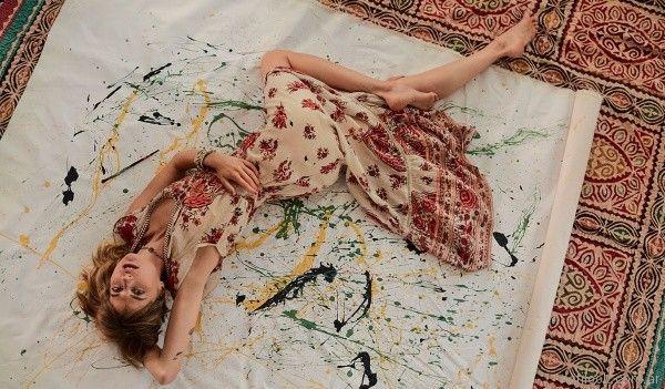 vestido largo para el dia de crepe estampado Rapsodia primavera verano 2018