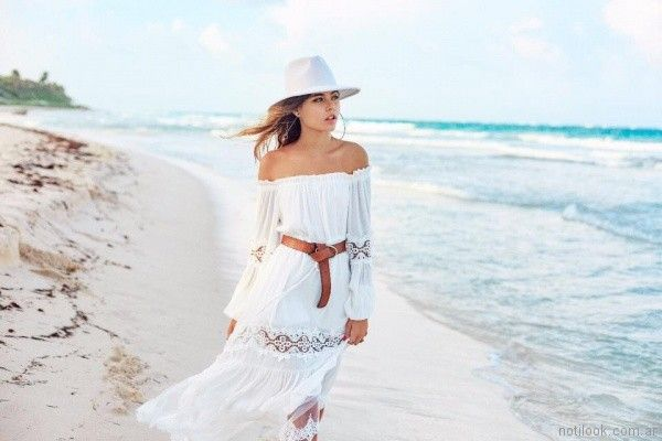 vestido largo para playa verano 2018 - 47 Street