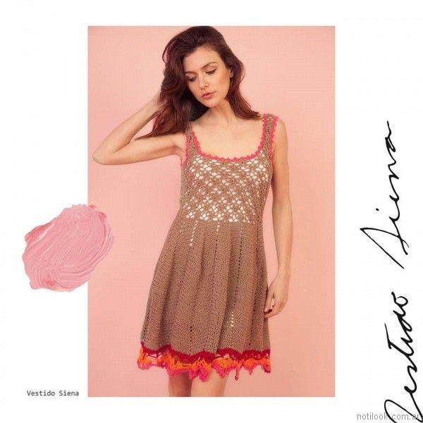 vestido tejido crochet Florencia Llompart Tejidos verano 2018