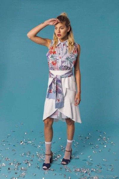 vestidos para el dia cuello camisero tramps primavera verano 2018