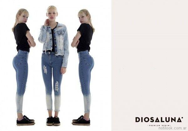 Jeans con dregade con roturas verano 2018 - Diosa Luna Jeans