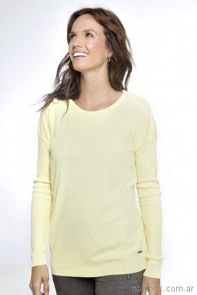 Sweater amarillo de hilo primavera verano 2018 - Nuss Tejidos