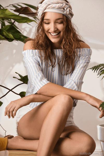 blusas a rayas System basic primavera verano 2018