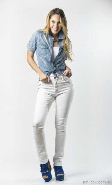 camisa de jeans mujer Claudia Rubinsztein verano 2018