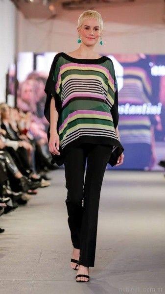 camisola a rayas para señoras adriana costantini verano 2018