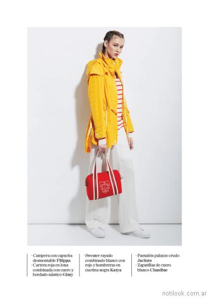 campera con capucha impermeable amarilla mujer Perramus verano 2018