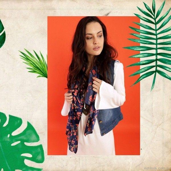 chaleco de jeans verano 2018 - Kevingston Mujer