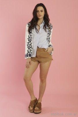 chaqueta bordada verano 2018 - Kevingston Mujer