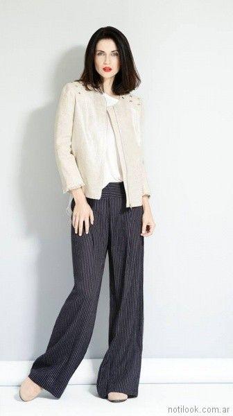 chaqueta de lino Noelia G primavera verano 2018