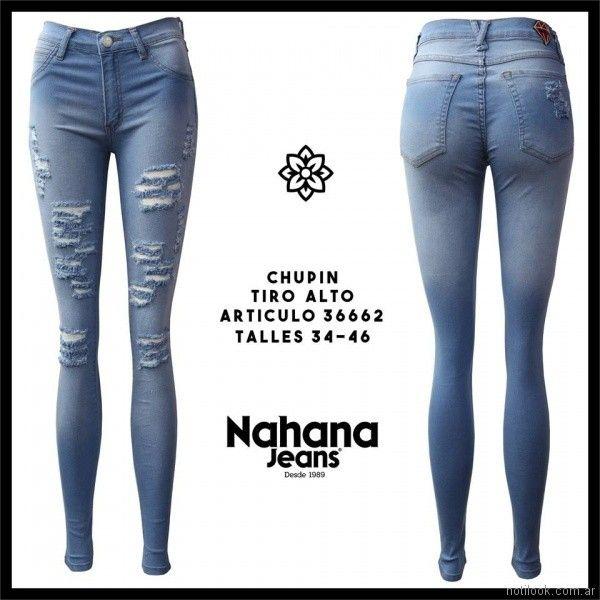 chupin con roturas Nahana jeans verano 2018