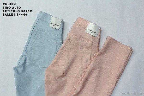 chupin de colores Nahana jeans verano 2018