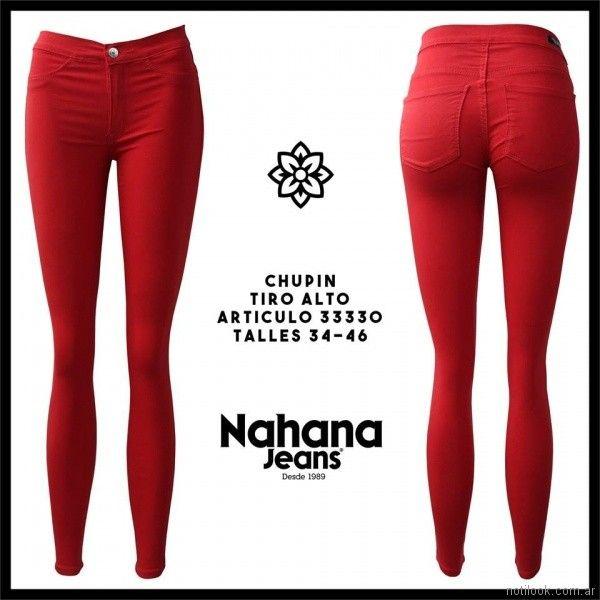 chupin rojo Nahana jeans verano 2018