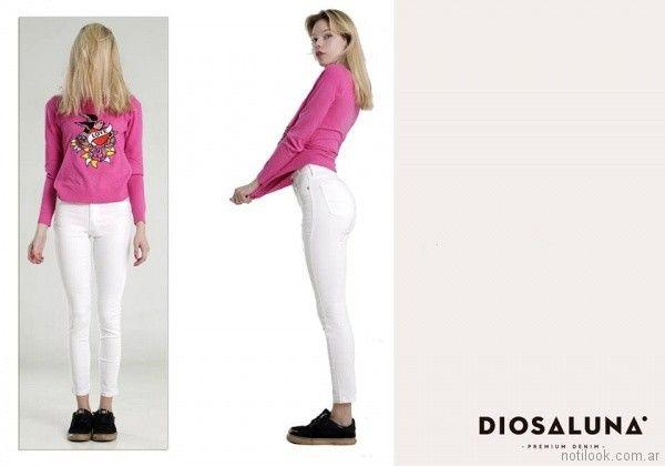 jeans blanco verano 2018 - Diosa Luna Jeans