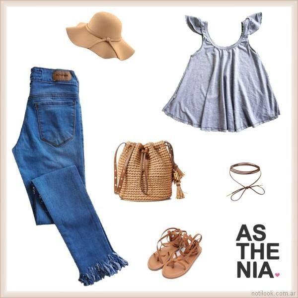 jeans chupin desflecado Asthenia verano 2018