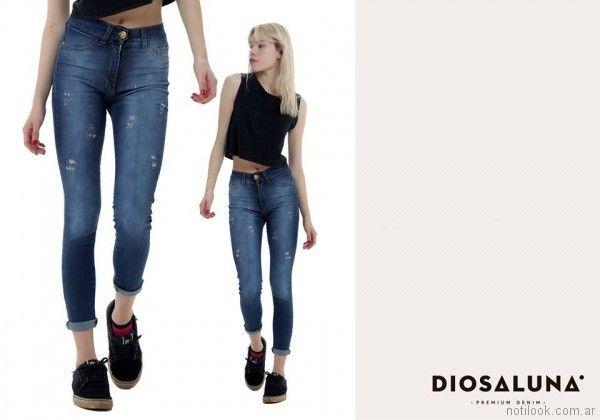 jeans con roturas verano 2018 - Diosa Luna Jeans