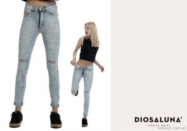 jeans gastado verano 2018 - Diosa Luna Jeans