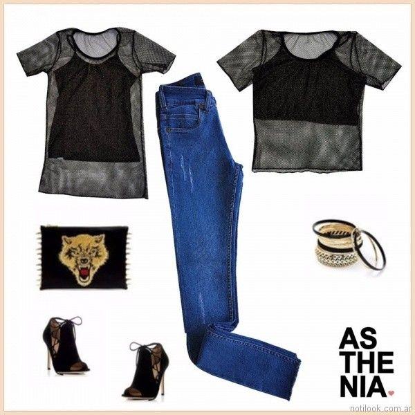jeans recto con roturas Asthenia verano 2018