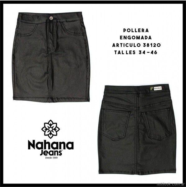 minifalda de jeans engomada Nahana jeans verano 2018