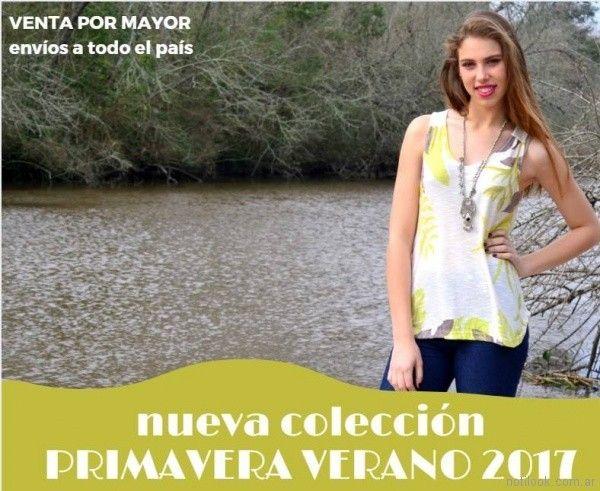 musculosa estampadas Selles Moda Mujer primavera verano 2018