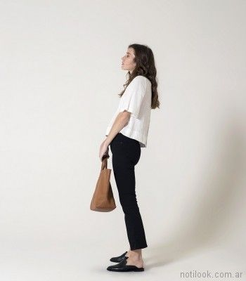 pantalon con franjas laterales Chocolate verano 2018