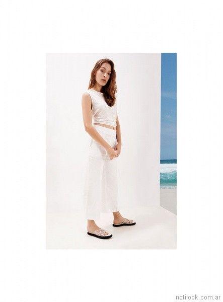 pantalon de vestir blanco verano 2018 - Naima