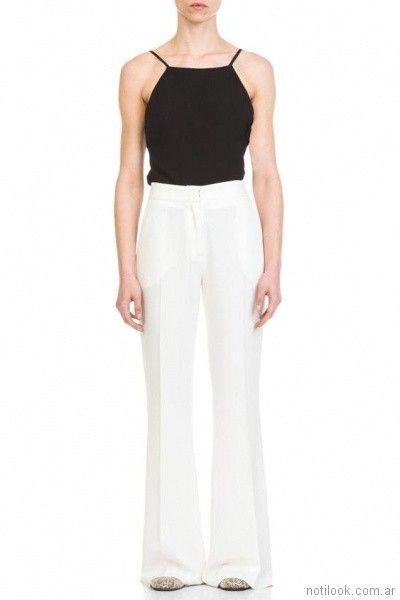 pantalon de vestir lino blanco verano 2018 - Naima