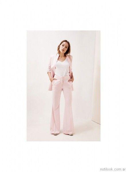 pantalon de vestir oxford mujer verano 2018 - Naima