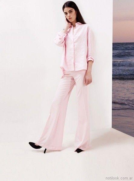 pantalon de vestir rosado verano 2018 - Naima