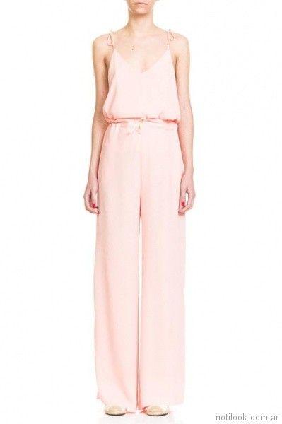 pantalon palazzo rosado verano 2018 - Naima