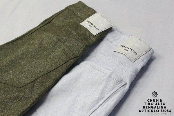 pantalone de bengalina con brillo Nahana jeans verano 2018