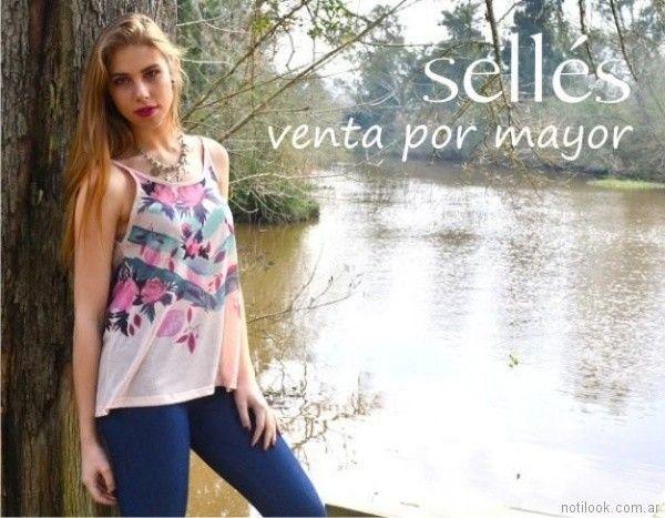 remera musculosa estampadas Selles Moda Mujer primavera verano 2018
