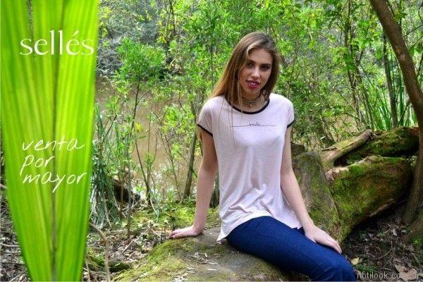remeras basicas para señoras Selles primavera verano 2018