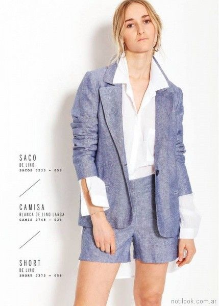 saco y bermuda de lino VER mujeres apasionadas verano 2018