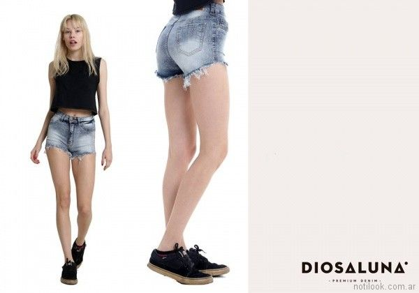 short de jeans deflecados verano 2018 - Diosa Luna Jeans
