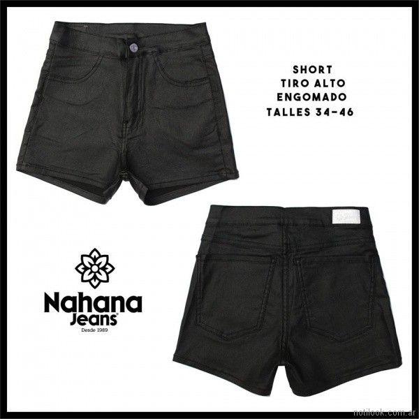short de jeans tiro alto engomado Nahana jeans verano 2018