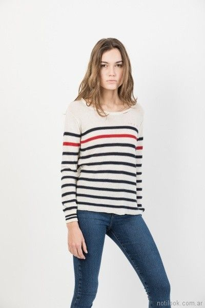 sweater a rayas John l cook mujer verano 2018
