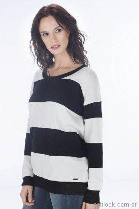 sweater a rayas primavera verano 2018 - Nuss Tejidos