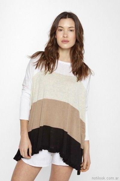 sweater con rayas de colores primavera verano 2018 - Millie Tejidos