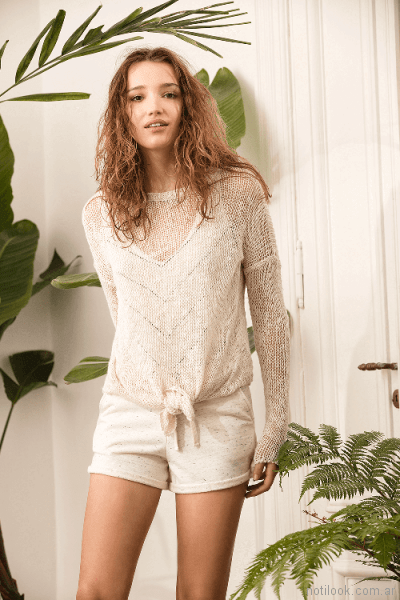 sweater de hilo casual System basic primavera verano 2018