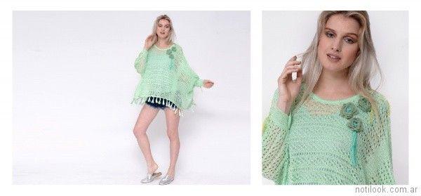 sweater holgado calado a crochet Oma primavera verano 2018