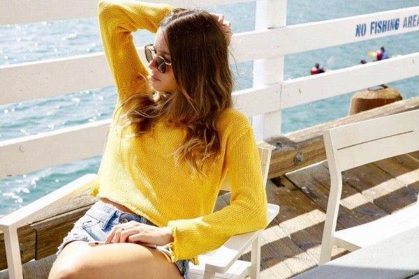 sweater juvenil amarillo Lovely Denim verano 2018