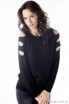 sweater negro primavera verano 2018 - Nuss Tejidos