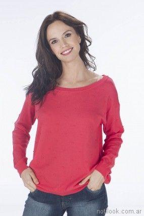 sweater rojo de hilo primavera verano 2018 - Nuss Tejidos