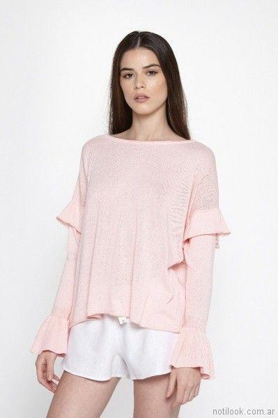 sweater rosado primavera verano 2018 - Millie Tejidos