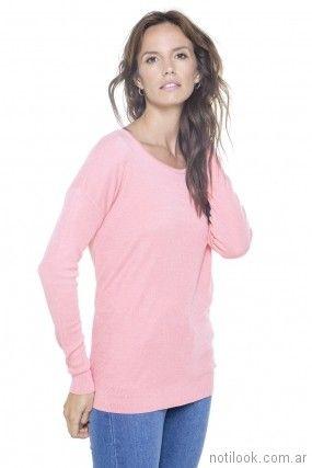 sweater rosado tejido primavera verano 2018 - Nuss Tejidos