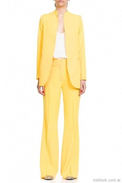traje de mujer amarillo verano 2018 - Naima