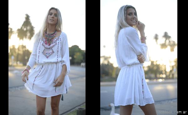 tunica blanca bordada verano 2018 - Vars moda